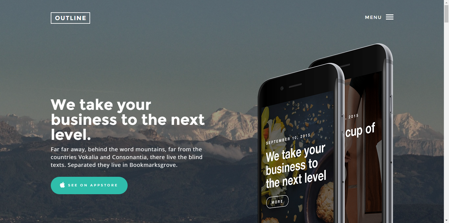 Outline: Free HTML5 Bootstrap Template - FREEHTML5.co